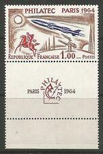 FRANCE. 1964. PHILATEC 64 Commémorative and Etiquette SG: 1651.