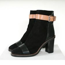 ISABEL MARANT black suede high heel Gussie Illusion Shoes buckle boots 35 NEW