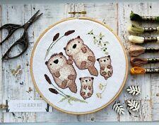 Nutrias Kit Punto De Cruz, de regalo de familia, día de las Madres, patrón de bordado de animales