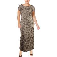 Alex Evenings Womens Gold Soutache Semi-Formal Dress Gown Plus 20W BHFO 0438