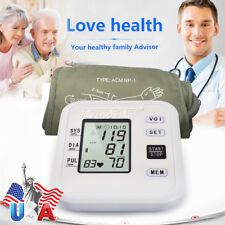 Digital LCD Blood Pressure Monitor Upper Arm Heart Beat Meter Dual User Design