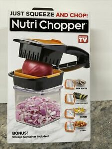 NutriChopper - Food Chopper & Dicer w/ Inserts and Storage Container New
