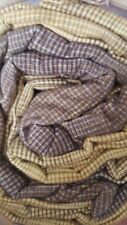 New Pottery Barn Teen soft Cabin Plaid Twin SHEETS yellow brown xl