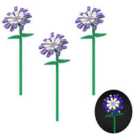 Three Blue Chrysanthemums 3 Osteospermum 3 Flowers Building Blocks Toys Sets