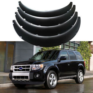 """For Ford Escape 2001-2022 Car Fender Flares 4.5"""" Wide Body Kit Wheel Arches 4Pcs"""