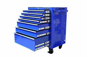 US PRO HEAVY DUTY BLUE STEEL TOOL BOX CHEST FINANCE AVAILABLE 10 YR WARRANTY!