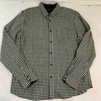 Rag & Bone Men Plaid Checkered Black and White Button Down Shirt - Size XXL
