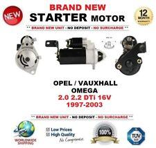 FOR OPEL VAUXHALL OMEGA 2.0 2.2 DTi 16V 1997-2003 STARTER MOTOR 2.0kW 10 Teeth