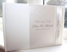 Personalizzato FATTO A MANO Matrimonio Libro degli ospiti-Charlotte ELISABETH GB015