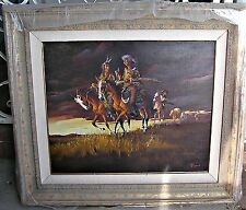 Rare Original Oil Painting by Listed Artist Buck McCain, Western Scout Theme