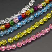Lots 6mm 8mm 30/50pcs Fashion Acrylic Crystal Loose Beads For Jewelry Making New