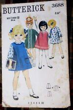 Butterick sewing pattern no.3688 children's DRESS SIZE 3 VINTAGE