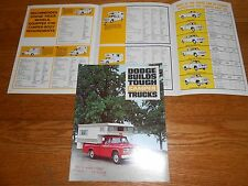1964, 1965, 1966 DODGE CAMPER PICKUP TRUCK 10 Page BROCHURE / CATALOG, 7 Models