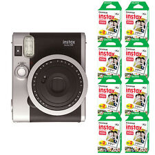 Fujifilm INSTAX Mini 90 Neo Classic Fuji Instant Camera Black + 160 Sheets Film