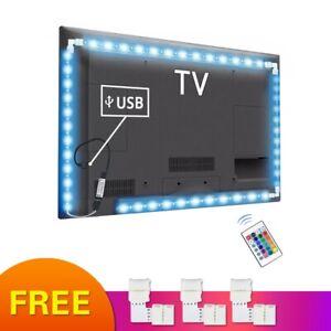 5V RGB USB LED Strip light Tape 5050 tira led USB Diode 1M 2M 3M TV backlight