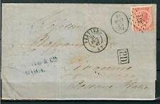 BELGIUM - BELGIO - 1865-1866 - Re Leopoldo I - 40 cent. rosa carminio