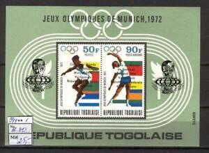 Soccer 1974 A85 Togo block Olympic games 1972  Munich CV 25 eur