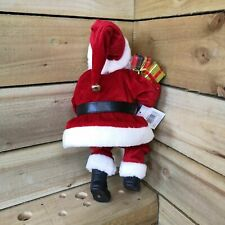 40cm Sitting Santa w Glasses Holding List and Parcels Red Christmas xmas 2020