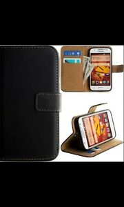 Magnetic PU Leather Flip Card Holder Wallet Case Cover For Samsung Galaxy Phone