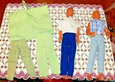 Ken Dolls 1968 lot of 2 with extra clothing