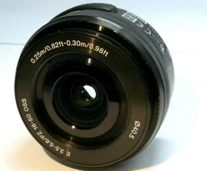 Sony SELP1650 E PZ 16–50mm f3.5–5.6 OSS  Lens - AS IS for parts as found