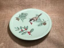 PFALTZGRAFF WINTERWOOD GREEN 8 1/4 Inch SALAD PLATES Chickadee Juniper Holly