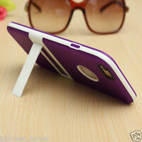 Purple Ultra Slim Dual Layer Case Cover + Kickstand For iPhone 6/6s & 6/6s Plus