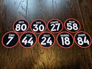 Denver Broncos Magnets - Von Miller, Peyton Manning, John Elway, Terrell Davis