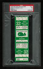 PSA 7 HOUSTON AEROS at NEW ENGLAND WHALERS 1978 WHA Hockey Ticket 32 GORDIE HOWE