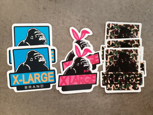 X-Large clothing style sticker pack x 7, Laptop, novelty, skateboard