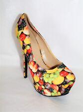 LILIANA Brand Multi Fruit Platform Heels Size 7.5 LIKE NEW