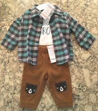 Gymboree Boy's Three Piece Outfit, Top Shirt Bottoms Pants, 3-6 mos., NWT ($58)