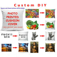 Personalized Printed Photo Pillow Case Custom Made Photo Print Cushion Cover WEB
