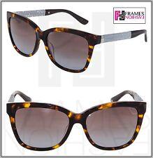 038438adba601 JIMMY CHOO CORA Brown Havana Glitter Square Sunglasses CORA S Square  Gradient