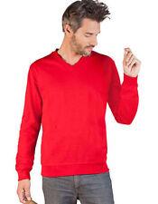 Unifarbene Herren-Kapuzenpullover & -Sweats mit V-Ausschnitt aus Baumwolle