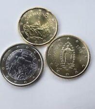 MONETE SAN MARINO 2018 EURO 1 0,50 0,20 ( 20 E 50 CENT) DA ROTOLINO UNC FDC