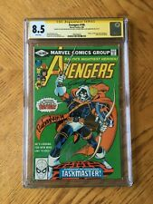 Avengers #196 Signed by Michelinie, Perez & Rubinstein 1st Taskmaster 8.5 CGC