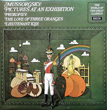 Spa 229 Moussorgski Pictures at an exhibition prokofiev kije 1972 DECCA Presque comme neuf/EX