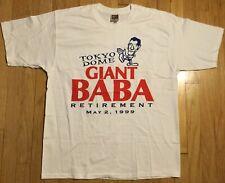 Vintage 1999 All Japan Pro Wrestling t shirt L wrestling 90s Giant Baba puroresu