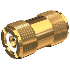 Shakespeare PL-258-G Gold Barrel Connector PL-259 Cable Coupler Adapter Extender