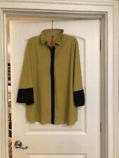 IC Collection Pleat Back Shirt/Jacket In Mustard And Black XL Preowned