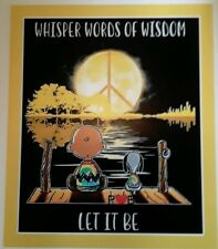 Peanuts Snoopy & Charlie Brown ♡ Let It Be ♡ Magnet ☆ The Beatles