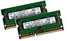 2x 4gb 8gb ddr3 di RAM 1333mhz Fujitsu Siemens Lifebook e780 e781 Samsung Memoria