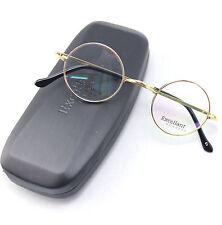 Agstum 42mm Luxury Titanium Round Vintage Gold Eyeglass Frames