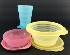 Tupperware Small Spring Lunch Set Tumbler + Stuffables + Flat Out Pastel New