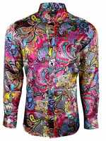 PAISLEY DESIGN CASUAL MENS SHIRT 60s-PARTY DRESS MULTI COLOUR SHIRT-£19.99 (425)