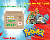 Pokemon Loot Crate- Cards - Plushes - and much more! with Monthly Themes!