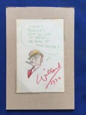 FRANK WILLARD  AUTOGRAPH WITH DRAWING