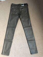 NEE Women's Lee Scarlett Skinny Stretch Ankle Grazer Gold Jeans W26 L31 (1080)