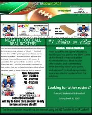 Ncaa 2011 11 360 Football Real Rosters File Only
